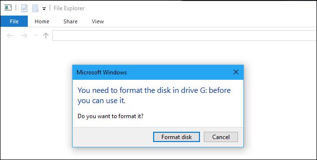เปิดแฟลชไดร์ฟไม่ได้