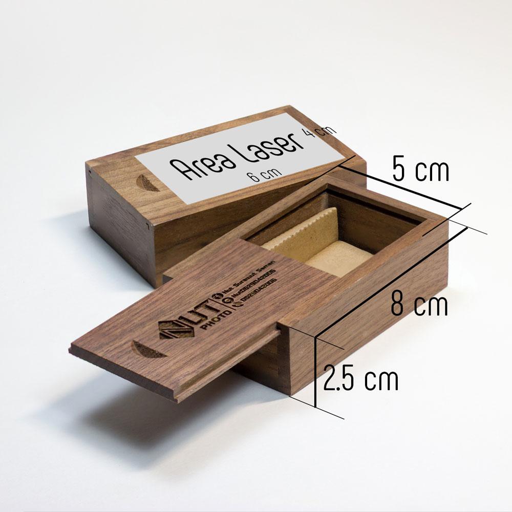 USB ไม้วอลนัท+กล่องเล็ก+เลเซอร์โลโก้ 3