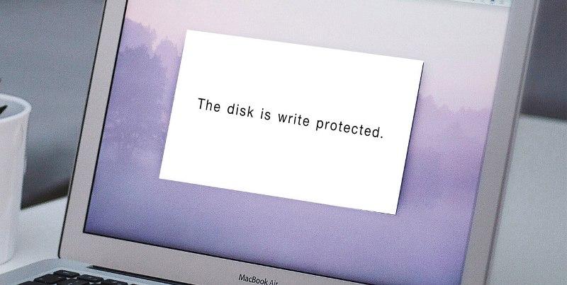 แฟลชไดร์ฟ format ไม่ได้ ขึ้น The disk is write protected.