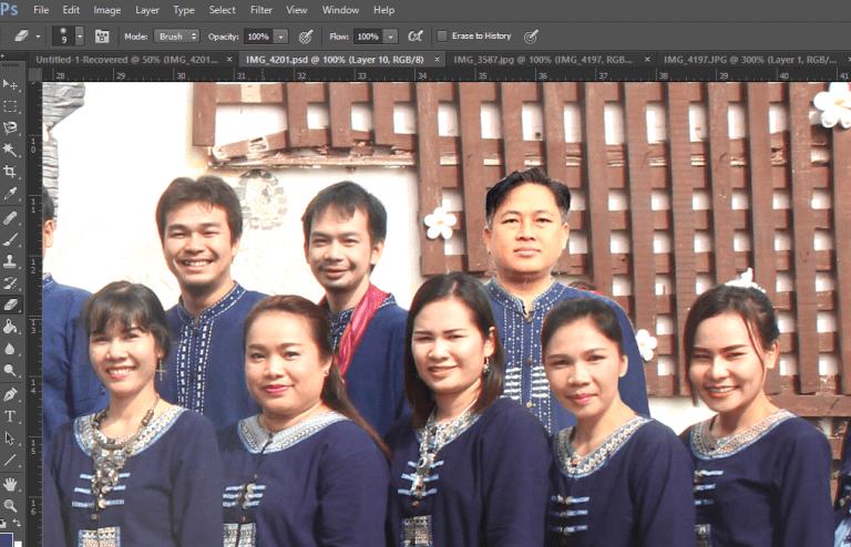 ตัดปะภาพหัวคน-photoshop