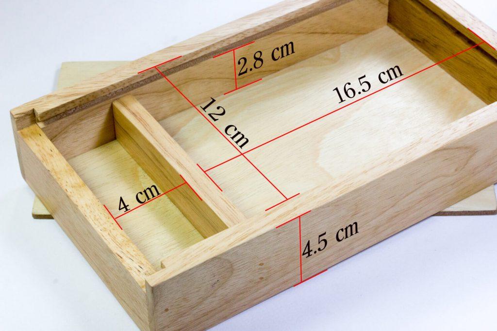 ขนาดภายในกล่องไม้ r box