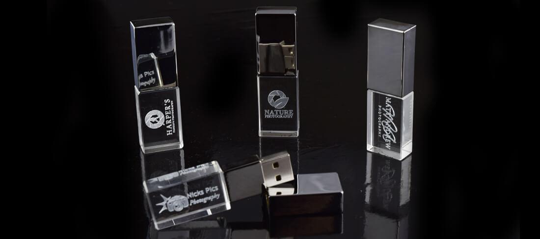 crystal usb with black box
