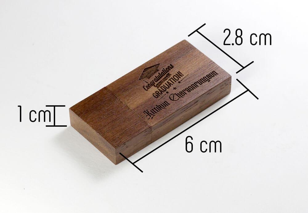 USB ไม้วอลนัท+เลเซอร์โลโก้ 4