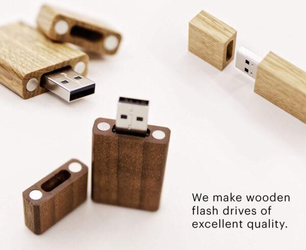 USB ไม้วอลนัท+เลเซอร์โลโก้ 1