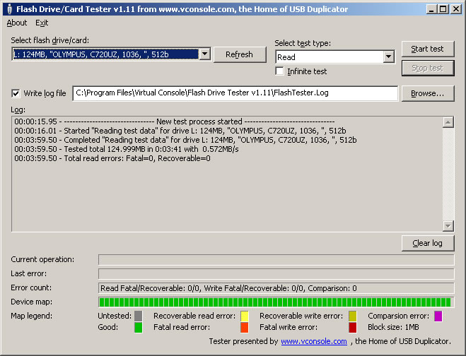scan usb drive for bad sectors