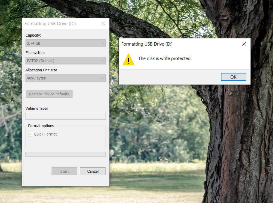 4 วิธีแก้ปัญหา The disk is write protected. 1